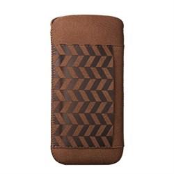 Чехол кожаный Ozaki O!coat Nature Lakes коричневый для iPhone 5