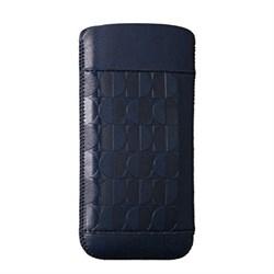 Чехол кожаный Ozaki O!coat Nature Moon синий для iPhone 5