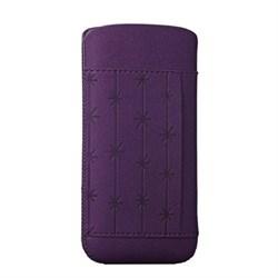 Чехол кожаный Ozaki O!coat Nature SnowFlake фиолетовый для iPhone 5