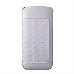 Чехол кожаный Ozaki O!coat Nature Rain белый для iPhone 5