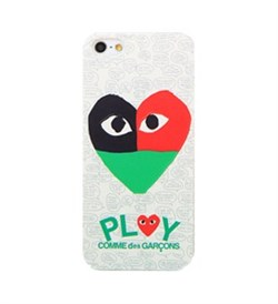 Чехол накладка Play Comme Des Gargons Color Heart для iPhone 5