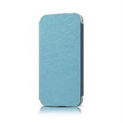 Чехол-книжка Gissar Flora Blue для iPhone 5