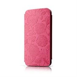 Чехол-книжка Gissar Flora Pink для iPhone 5