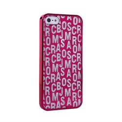 Пластиковый дизайн чехол-накладка Marc Jacobs Purple для iPhone 5