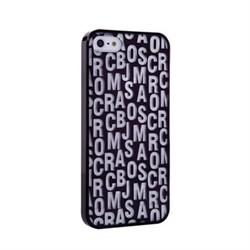 Пластиковый дизайн чехол-накладка Marc Jacobs Black для iPhone 5