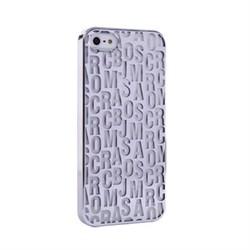 Пластиковый дизайн чехол-накладка Marc Jacobs Silver для iPhone 5