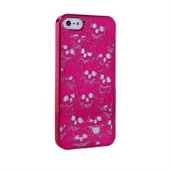 Пластиковый дизайн чехол-накладка Marc Jacobs Skulls Purple для iPhone 5