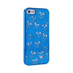 Пластиковый дизайн чехол-накладка Marc Jacobs Skulls Blue для iPhone 5