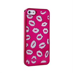 Пластиковый дизайн чехол-накладка Marc Jacobs Kisses Purple для iPhone 5
