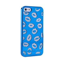 Пластиковый дизайн чехол-накладка Marc Jacobs Kisses Blue для iPhone 5