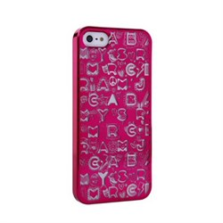 Пластиковый дизайн чехол-накладка Marc Jacobs Collage Purple для iPhone 5
