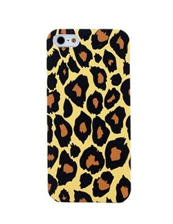 Чехол накладка Leopard Case Yellow для iPhone 5