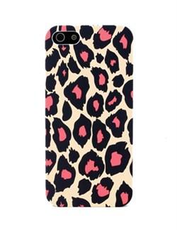 Чехол накладка Leopard Case Pink для iPhone 5