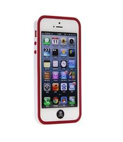 Бампер сборный двойной White/Red для iPhone 5