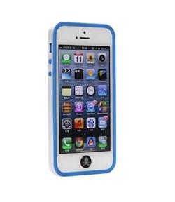 Бампер сборный двойной White/Blue для iPhone 5