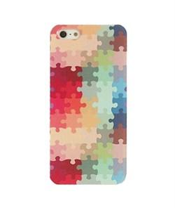 Пластиковый чехол Color Puzzle для iPhone 5