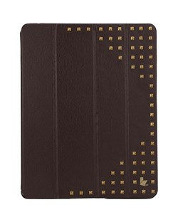 Чехол книжка JisonCase Premium Studded для Apple iPad 2/3/4 (Коричневый)