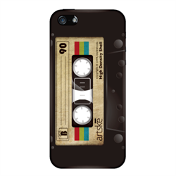 Чехол-накладка Artske iPhone SE/5/5S Uniq case Black Cassette - фото 5738