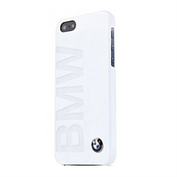 Чехол-накладка BMW для iPhone SE/5/5S Logo Signature Hard White - фото 5790
