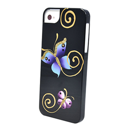 Чехол-накладка для iPhone SE/5/5S iCover Butterfly Black - фото 6102