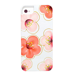Чехол-накладка для iPhone SE/5/5S iCover Cherry Blossoms White/Red - фото 6109