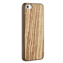 Оригинальный чехол-накладка Ozaki O!Coat 0.3 + Wood для iPhone SE/5/5S - фото 6305