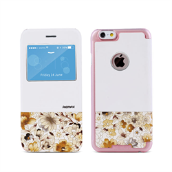 Чехол-книжка Remax Aimer Series Flowers Design для iPhone 6/6s Plus+ - фото 6979