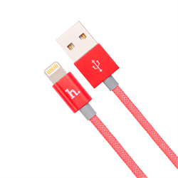 Кабель для iPhone/iPad HOCO Apple Two Metall Carbon Cable 120см - фото 7213