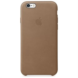 Оригинальный кожаный чехол-накладка Apple для iPhone 6/6s цвет «коричневый» (MKXR2ZM/A) - фото 7821