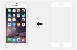 Защитное стекло: Ainy Tempered Glass 2.5D Full Screen Cover 0.33mm для iPhone 6/6s plus + (Цвет: Белый) - фото 8432