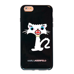 Чехол-накладка Karl Lagerfeld для iPhone 6/6S Monster Choupette Hard Black - фото 8921