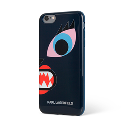 Чехол-накладка Karl Lagerfeld для iPhone 6/6S Monster Choupette Hard, Blue - фото 8926