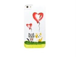 Чехол-накладка iCover для iPhone SE/5/5S Cats_01 ручная роспись - фото 9123
