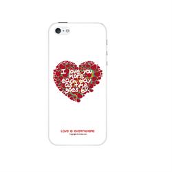Чехол-накладка Artske для iPhone SE/5/5S Uniq case Heart - фото 9176