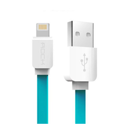 Кабель Rock Lightning-USB Data Cable Flat для iPhone/ iPad 100cм - фото 9203