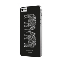 Чехол-накладка India для iPhone SE/5/5S Hard Elephants Black - фото 9377