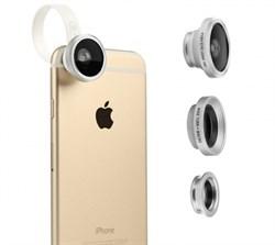 Объектив Baseus Mini Lens Fisheye+Wide+Macro универсальные (комплект 3 в 1) - фото 9945
