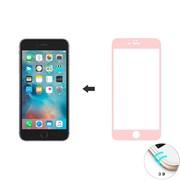 Защитное стекло Ainy Tempered Glass 3D для iPhone 6/6s на весь экран с закруглением (Цвет: Розовый, толщина 0.33 мм)