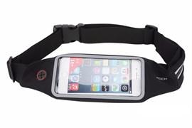 Сумка поясная для спорта Rock Universal Running Belt для смартфона (Цвет: Чёрный)