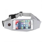 Сумка поясная для спорта Rock Universal Running Belt для смартфона (Цвет: Серый)