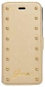 Чехол-книжка Guess для iPhone 6/6s plus Studded Booktype Cream (Цвет: Бежевый)