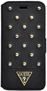 Чехол-книжка Guess для iPhone 6/6s plus Tessi Booktype Black (Цвет: Чёрный)