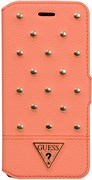 Чехол-книжка Guess для iPhone 6/6s plus Tessi Booktype Coral (Цвет: Розовый)
