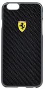 Чехол-накладка Ferrari для iPhone 6/6s Formula One Hard Real Carb Bk (Цвет: Чёрный)