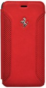 Чехол-накладка Ferrari для iPhone 6/6s plus F12 Booktype Red (Цвет: Красный)