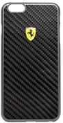 Чехол-накладка Ferrari для iPhone 6/6s plus Formula One Hard Real Crb Bk (Цвет: Чёрный)