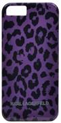 Чехол-накладка Karl Lagerfeld для iPhone 5/5s Camouflage Hard Leopard (Цвет: Фиолетовый)