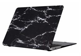 """Защитная накладка Uniq для Macbook 12"""" HUSK Pro Marbre (Цвет: Чёрный)"""