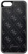 Чехол-накладка Guess Aluminium Plate для iPhone 5/5s/SE Hard Black (Цвет: Чёрный) (GUHCPSEMEBK)