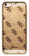 Чехол-накладка Guess Transparent для iPhone 5/5s/SE Hard TPU Gold (Цвет: Золотой)